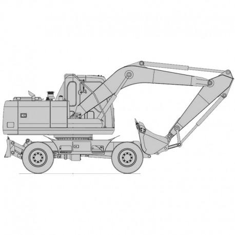 Daewoo Solar S140W-V Excavator - Service Manual / Repair Manual