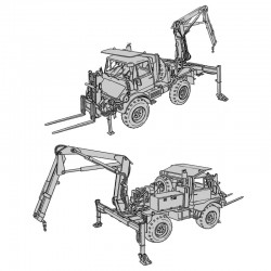 Mercedes Unimog Tractor Wheeled 4x4 DED - Operator's Manual