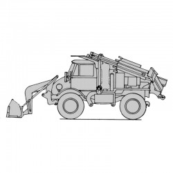 Mercedes Unimog Small Emplacement Excavator - Operator's Manual