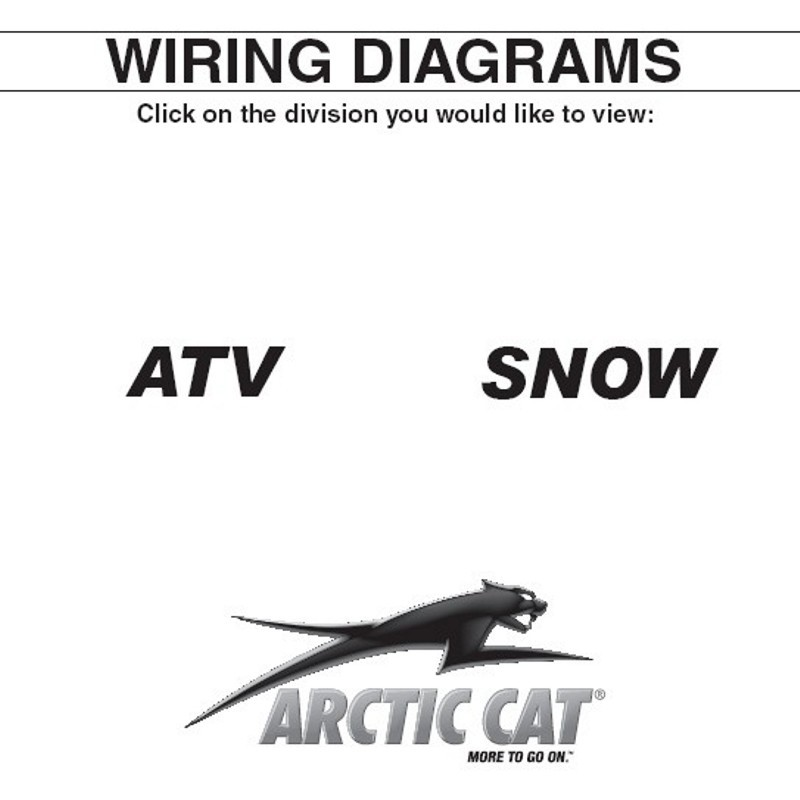 Arctic Cat (2000 Thru 2009) ATV and Snowmobiles - Wiring DiagramsService Manuals Online