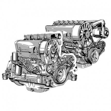 Deutz Engine 912 / 913 - Service Manual - Parts Manual - (English, French, German, Italian and Spanish)