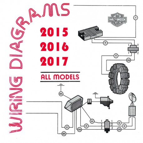 harley davidson all models 2015, 2016, 2017 - electrical wiring diagrams  service manuals online
