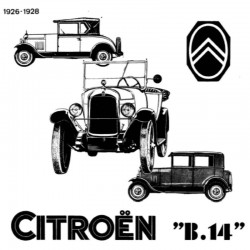 Citroën B14 (1926-1928) - Manuel de Reparation - French Service Manual - Manuel de Reparation - French Service Manual
