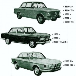 BMW 1600, 1800, 1802, 2000, 2002 - Manuel de Reparation / Atelier - Schemas de Cablage Electrique