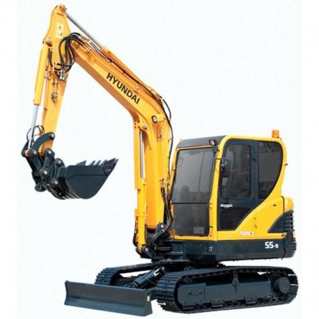 Hyundai Crawler Excavator R55-9 - Service Manual - Operators Manual - Wiring Diagrams