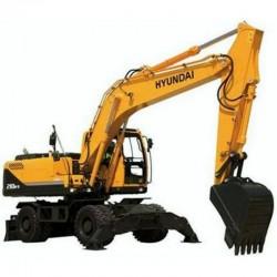 Hyundai Wheel Excavator R210W-9 - Service Manual - Operators Manual - Wiring Diagrams