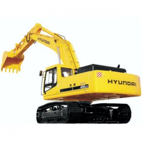 Hyundai Crawler Excavator R450LC-7 - Service Manual - Operators Manual - Wiring Diagrams