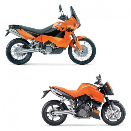 KTM 950 Adventure & 990 Super Duke - Service Manual - Manuel de Reparation - Manuale di Officina - Reparaturanleitung